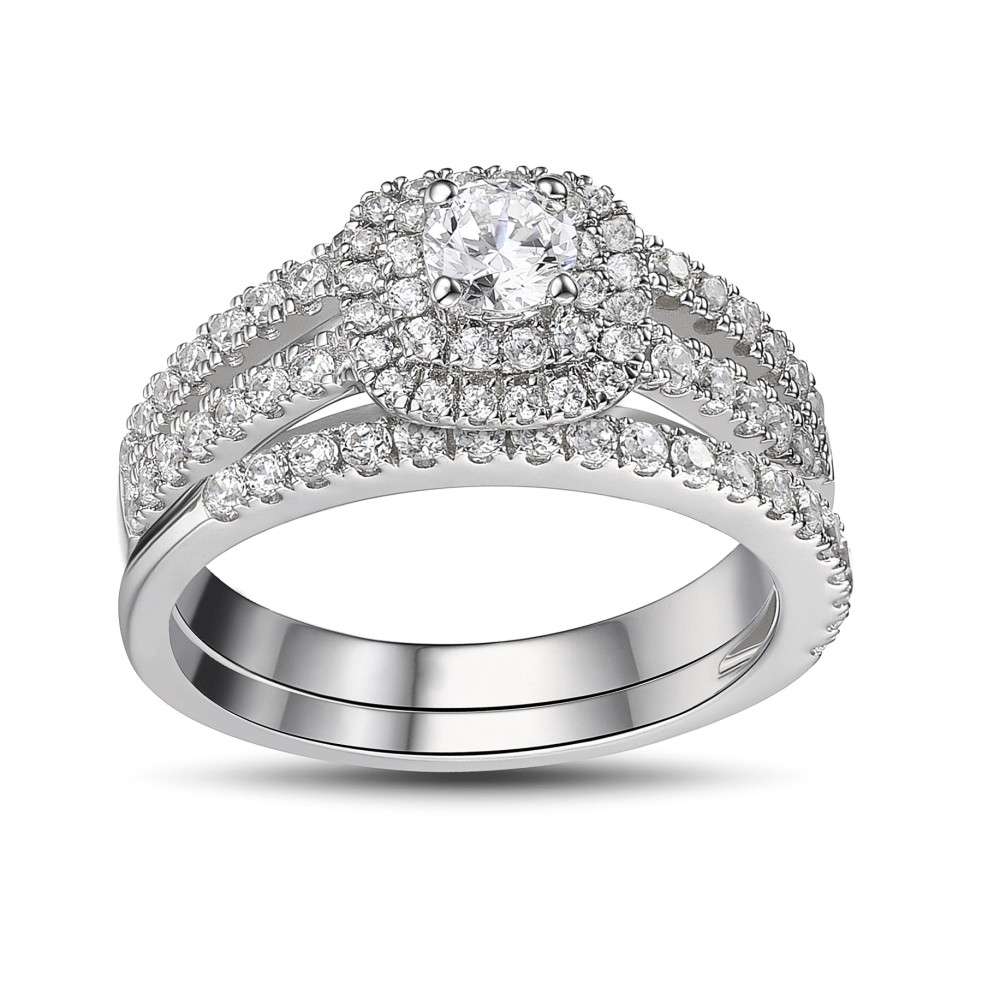 round cut white sapphire 925 sterling silver womens