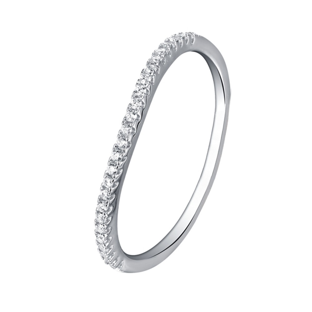 Tinnivi Contour Stackable Wedding Sterling Silver Band