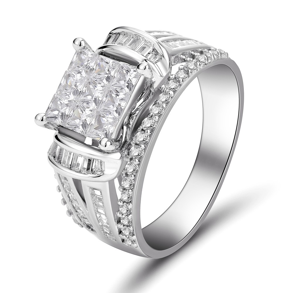 platinum engagement cz diamond name rings silver limoges jewelry sterling plated wedding ring