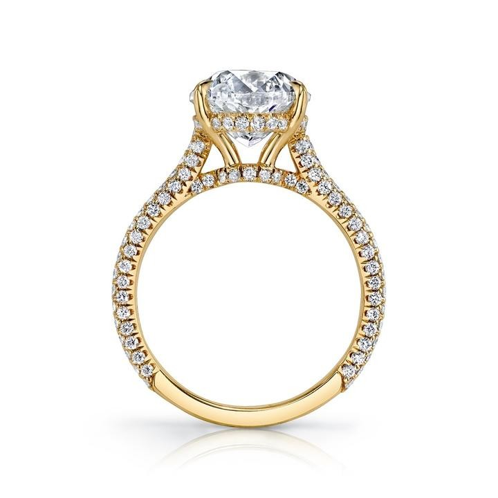 Gold Oval Cut White Sapphire 925 Sterling Silver Engagement Ring