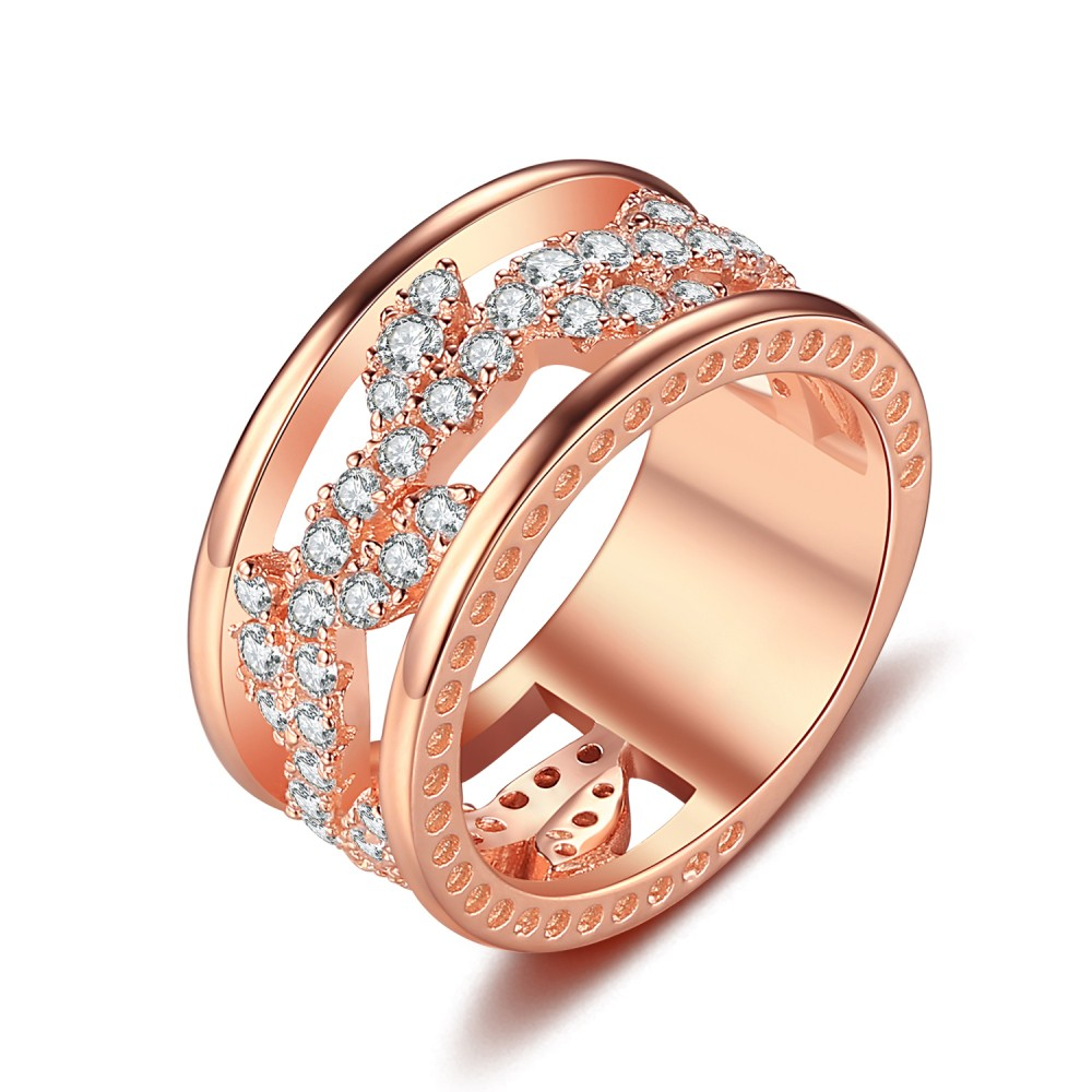 Round Cut White Sapphire Rose Gold 925 Sterling Silver Women S
