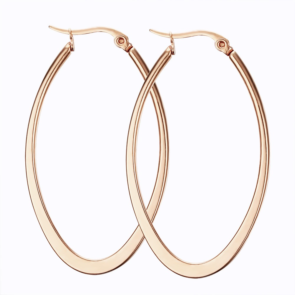 Rose Gold 925 Sterling Silver Earrings
