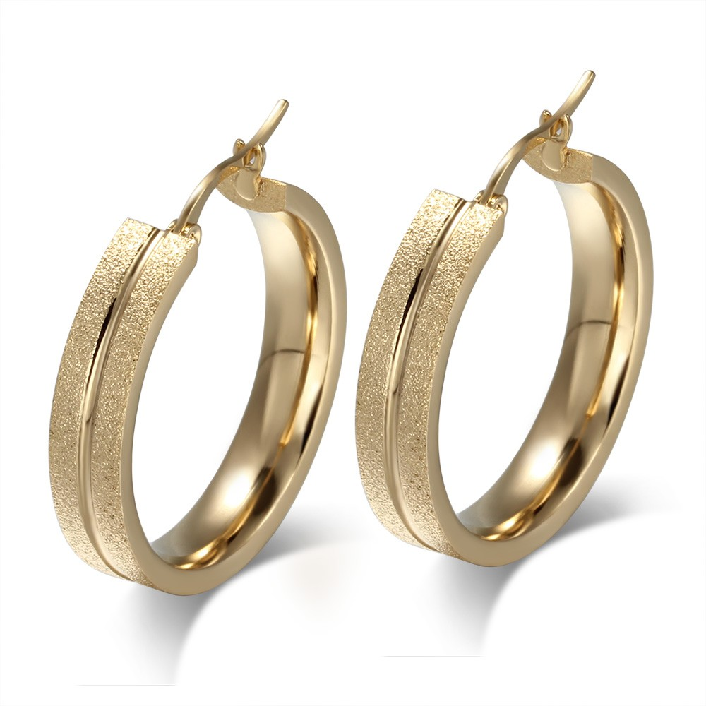 Wonderful Gold 925 Sterling Silver Earrings