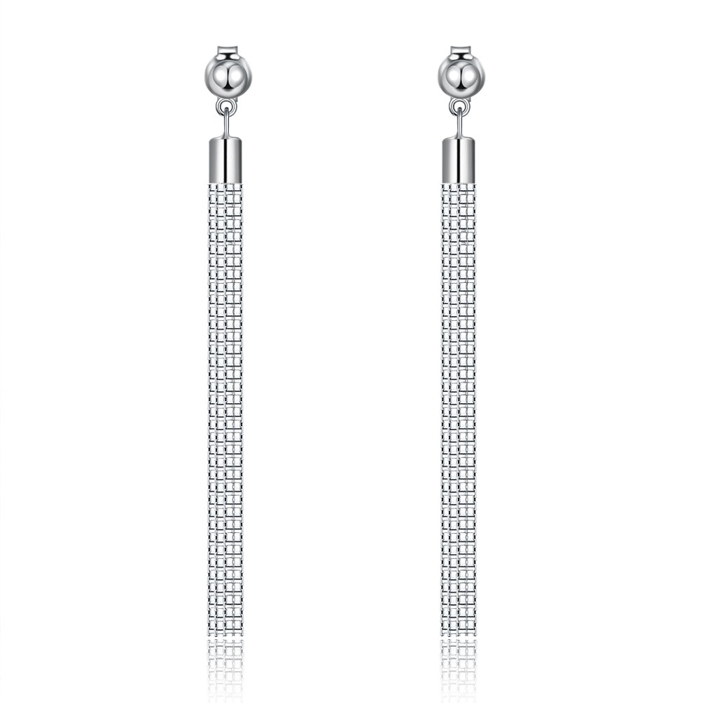 bf41f6a45 Tinnivi Elegant Tassel Sterling Silver Long Dangle Earrings - Tinnivi  Jewelry