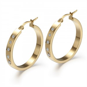 Round Cut White Sapphire Gold 925 Sterling Silver Earrings