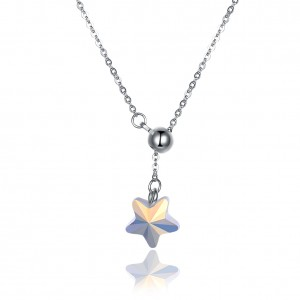 Tinnivi Ball With Star Sterling Silver Pendant Necklace