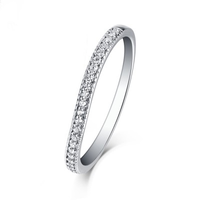 Tinnivi Sterling Silver Contour Stackable Wedding Band