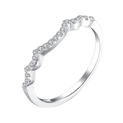 Tinnivi Stylish Created White Sapphire Stackable Band