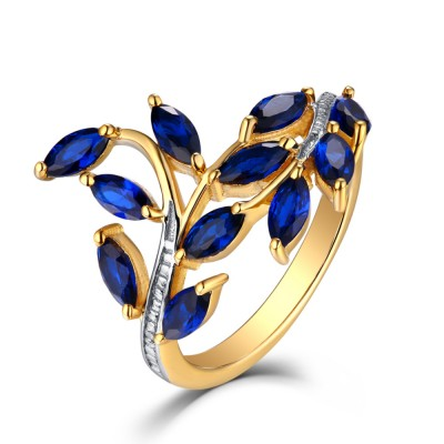 Tinnivi Sterling Sliver Yellow Created Sapphire Ring Enhancer