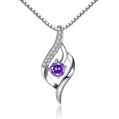 Gorgeous Amethyst 925 Sterling Silver Necklace