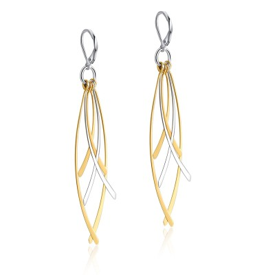 Gold and Silver 925 Sterling Silver Earrings