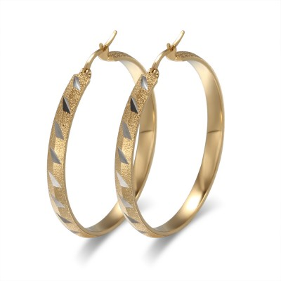 Beautiful Gold 925 Sterling Silver Earrings