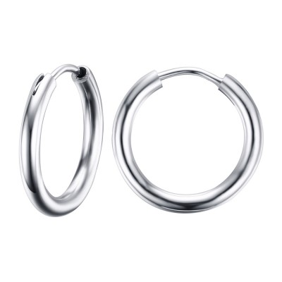 Round Silver 925 Sterling Silver Earrings