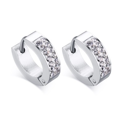 Round Cut White Sapphire Silver 925 Sterling Silver Earrings