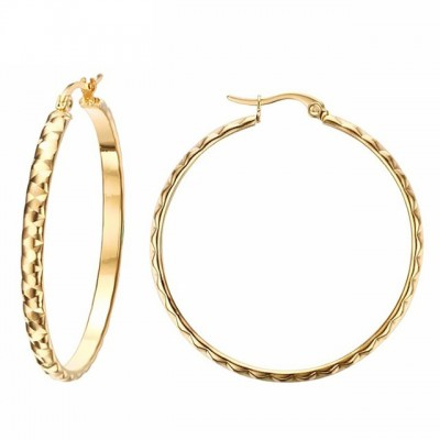 Cool Gold Titanium Steel Earrings