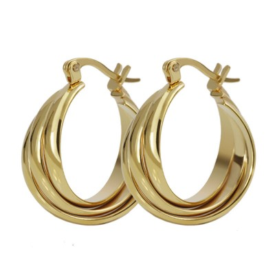 Shining Gold 925 Sterling Silver Earrings