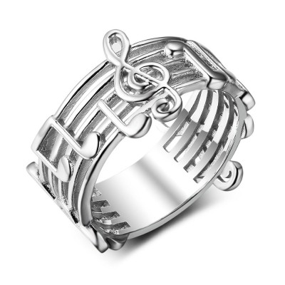 Tinnivi Stylish Musical Note Sterling Silver Band