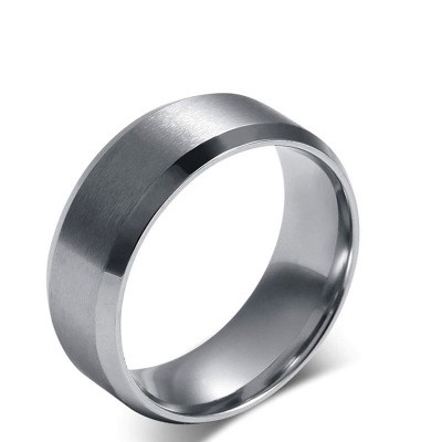 Tinnivi Simple Dull Polish Titanium Steel Wedding Band