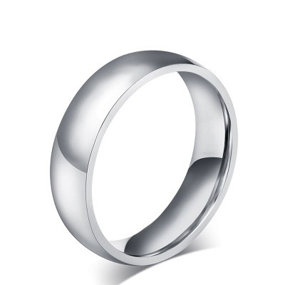 Tinnivi Traditional Polished Titanium Steel Wedding Bands