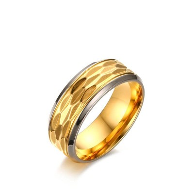 Tinnivi Fashion Gold Plated High Polished Titanium Steel Band