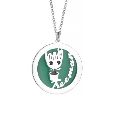 Green Tree Man Personalized Pendant 925 Sterling Silver Necklace