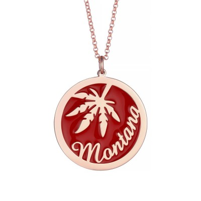 Maple Leaf Personalized Pendant 925 Sterling Silver Necklace