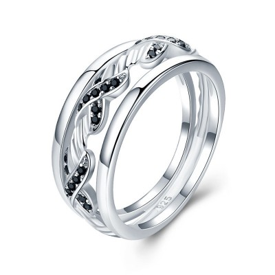 Tinnivi Fashion Hollow Out Sterling Silver Band