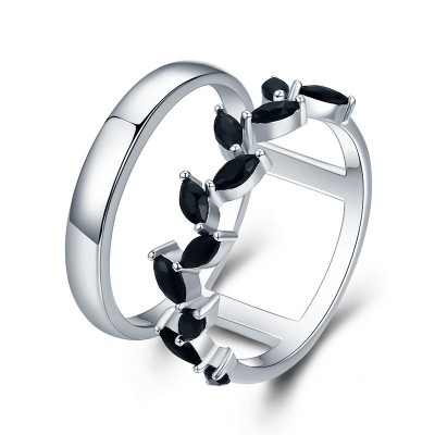 Tinnivi Stylish Vine Design Sterling Silver Band