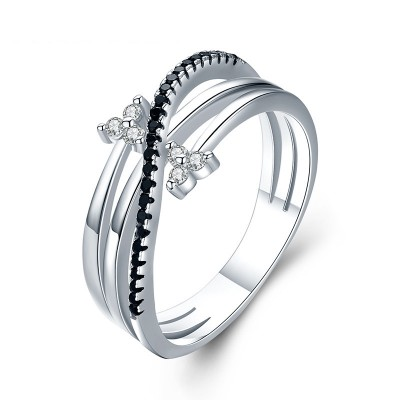 Tinnivi Stylish Twist Sterling Silver Band