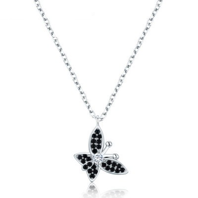 Tinnivi Elegant Butterfly Sterling Silver Pendant Necklace