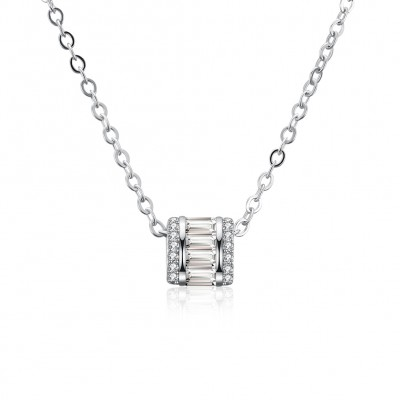 Tinnivi Fashion Created White Sapphire Sterling Silver Pendant Necklace