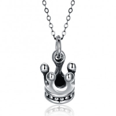 Tinnivi Crown Sterling Silver Pendant Necklace
