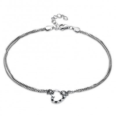 Tinnivi Hollow Out Sterling Silver Bracelet