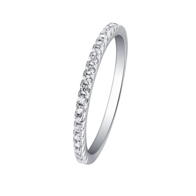 Tinnivi Sterling Silver Stackable Wedding Band
