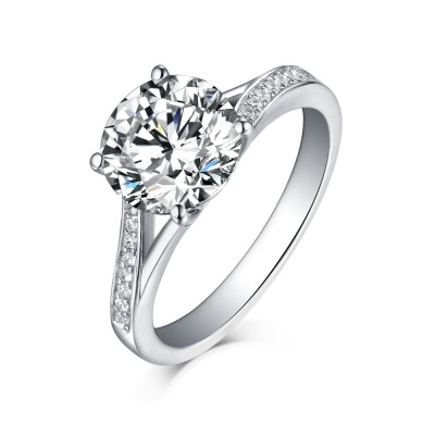 cut ring rings set silver jewelry square with center stone wedding sterling bridal princess cz