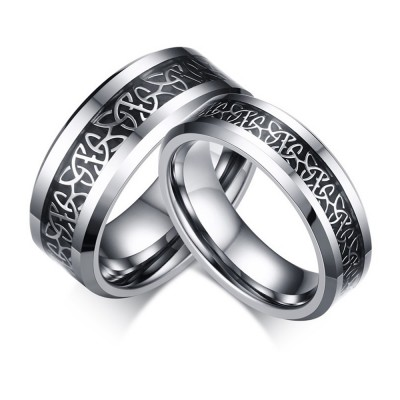 Unique Titanium Steel Couples Ring
