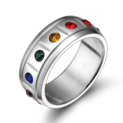 Tinnivi Stylish Colorful Stone Titanium Steel Bands
