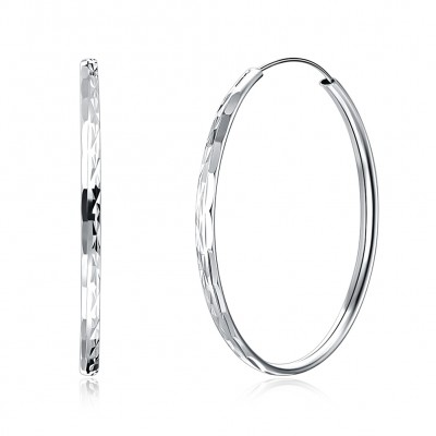 Tinnivi Fashion Sterling Silver Hoop Earrings