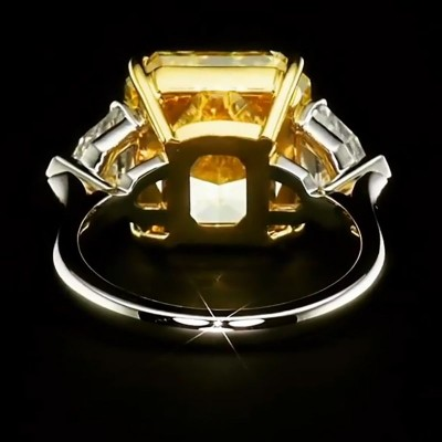 Asscher Cut Topaz 925 Sterling Silver Engagement Ring
