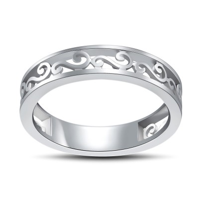 Tinnivi Sterling Silver Filigree Band Ring