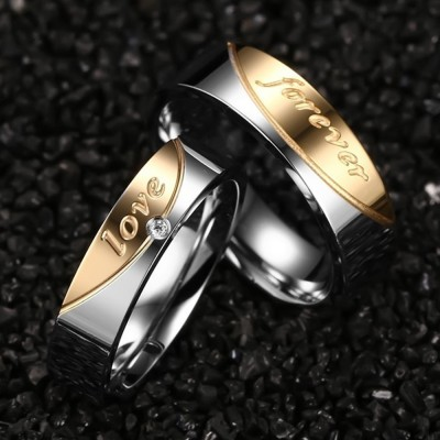 Forever Love Titanium Steel Couples Ring