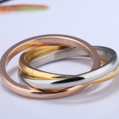 Tinnivi Stylish Triple Colors Titanium Steel Band