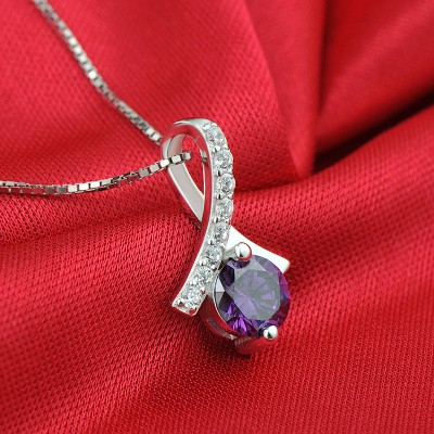 Vintage Amethyst 925 Sterling Silver Necklace