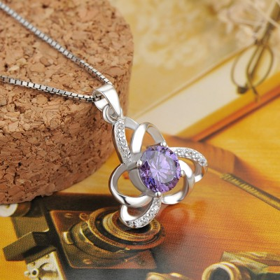Vintage Amethyst 925 Sterling Silver Fashion Necklace