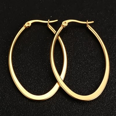 Cool Gold 925 Sterling Silver Earrings