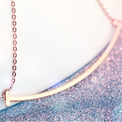 Tinnivi Rose Gold Plated Sterling Silver Smile Necklace