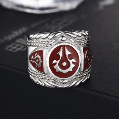 925 Streling Silver World of Warcraft Horde Ring Fashion Men's Ring