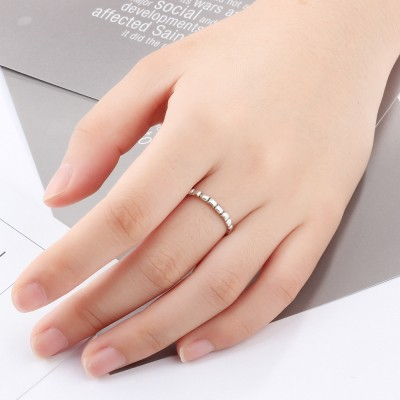 Tinnivi Elegant Bamboo Joint Sterling Sliver Womens Ring