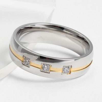 Tinnivi Pave Created White Sapphire Fashion Men's Band