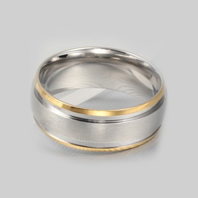 Tinnivi Fashionable Titanium Steel Simple Women's Ring